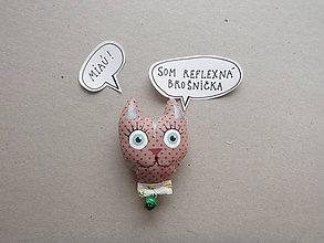 Odznaky/Brošne - Mačička - reflexná brošnička - 9037787_