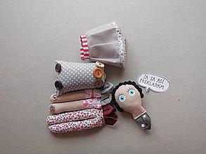 Hračky - Gombíková bábika Lujza - 9038290_