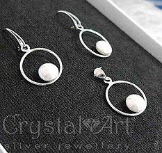 Sady šperkov - Strieborná súprava s perlami - 9039739_