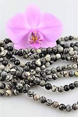 jaspis čierno-biely korálky 8mm