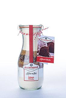 Potraviny - Koláč vo fľaši - kakaová bábovka so sušenými marhuľami WECK - 9039598_