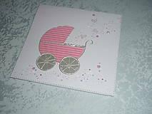 Papiernictvo - Pohľadnica...narodilo sa dievčatko :-) - 9038887_