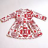 Detské oblečenie - Šaty - Red Folk Ornament (110) - 9039360_