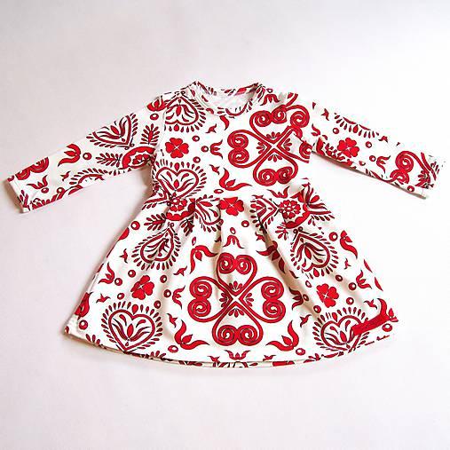 Šaty - Red Folk Ornament (110)
