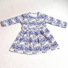 Detské oblečenie - Šaty - Blue Folk Ornament - 9039320_