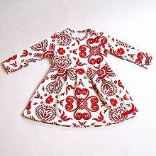 Detské oblečenie - Šaty - Red Folk Ornament - 9039360_