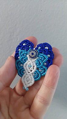 Odznaky/Brošne - Modro - biela brošňa - 9039129_