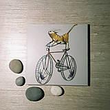 Leporelo 13x13 ,,Mačka bicyklistka,,,