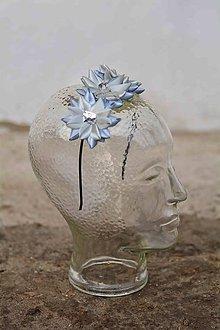 Ozdoby do vlasov - Čelenka modrý kvet - 9037294_