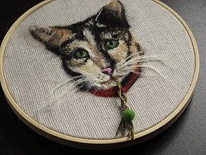 Dekorácie - Obraz plstený portrét mačky - 9039399_