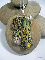 Náhrdelníky - Bismuth 4. - prívesok s retiazkou - 9039432_