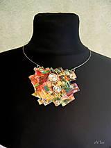 Náhrdelníky - Bismuth náhrdelník - 9039659_
