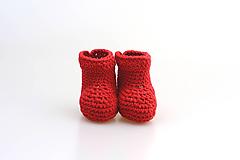 Topánočky - Červené papučky EXTRA FINE - 9038293_