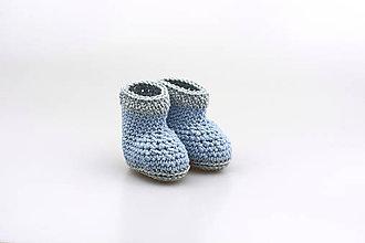 Topánočky - Modro-šedé papučky EXTRA FINE - 9038543_