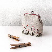 Peňaženky - Peňaženka Štylizovaná lúka - 9037161_