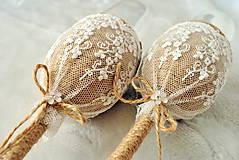 Nádoby - Svadobné poháre Natur - 9039423_