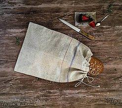 Úžitkový textil - Vidiecke ľanové vrecko na chlieb - 9037137_