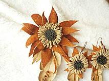 Sady šperkov - Sada kožená, suché kvietky - 9037411_