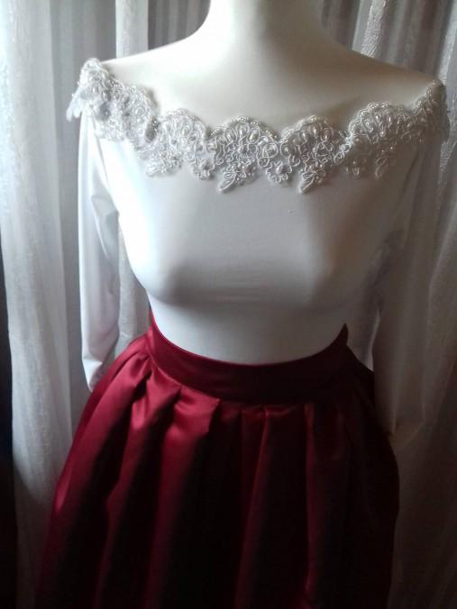 ee8336b22c16 Plesová sukňa a top   FolkJarka - SAShE.sk - Handmade Sukne