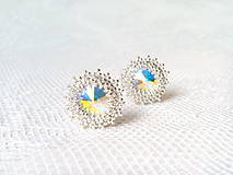 Náušnice - Disco Star earrings (Rhodium earrings / Swarovski crystal) - 9044420_