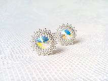 Náušnice - Disco Star earrings (Rhodium earrings / Swarovski crystal) - 9044421_
