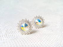 Náušnice - Disco Star earrings (Rhodium earrings / Swarovski crystal) - 9044422_