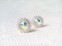 Náušnice - Disco Star earrings (Rhodium earrings / Swarovski crystal) - 9044423_
