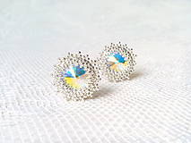 Náušnice - Disco Star earrings (Rhodium earrings / Swarovski crystal) - 9044424_