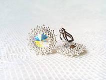 Náušnice - Disco Star earrings (Rhodium earrings / Swarovski crystal) - 9044425_