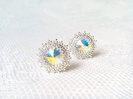 Disco Star earrings (Rhodium earrings / Swarovski crystal)