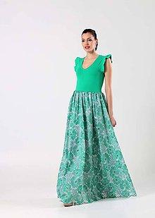Šaty - Zelený kvet - 9041760_