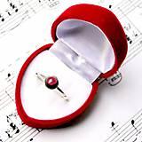 Simple Red Garnet Ring AG925 / Strieborný prsteň s pravým granátom /0404