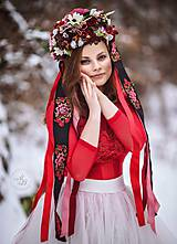 Ozdoby do vlasov - Kráľovná zimy... AKCIA - 9045505_