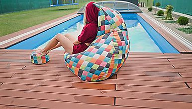 Nábytok - Dizajnový sedací vak BOBCAT XXL + podnožka zdarma poťah 239 - výpredaj - 9042123_