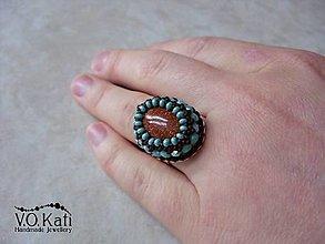 Prstene - Brianne - goldfuss, bead embroidery - 9045512_