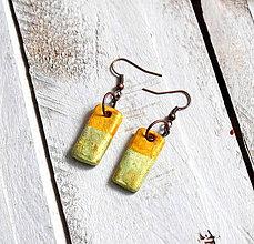 Náušnice - Zľava z 5€ na 3€ Farebné nášnice (žltá a mentolová) - 9041978_