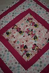 Textil - DĚTSKÁ PATCHWORKOVÁ DEKA ...růžová - 9044010_