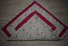 Textil - DĚTSKÁ PATCHWORKOVÁ DEKA ...růžová - 9044012_