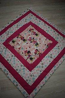 Textil - DĚTSKÁ PATCHWORKOVÁ DEKA ...růžová - 9044007_