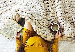 Úžitkový textil - Obria pletená deka Merino - 180x200 - 9043517_