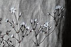 Tuniky - Ľanový top - ručne maľovaný zimné trávy - 9044771_