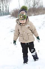 Detské čiapky - Hrejivý set s mackom - 9042962_