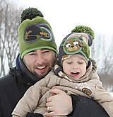 Detské čiapky - Hrejivý set s mackom - 9042964_