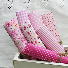 Textil - Sada látok 50x50cm (ružová) - 9043143_