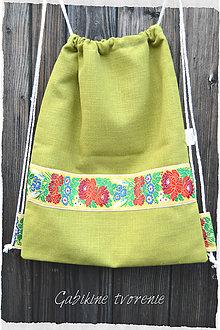 Batohy - FOLK batoh v zelenom - 9044749_