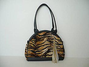 Kabelky - Kabelka - imitace tygří kožešiny - 9042647_