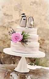 Dekorácie - Svadobní ježkovia menší - figúrky na tortu - 9043628_