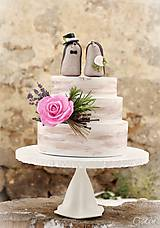 Dekorácie - Svadobní ježkovia menší - figúrky na tortu - 9043629_