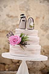 Dekorácie - Svadobní ježkovia menší - figúrky na tortu - 9043631_