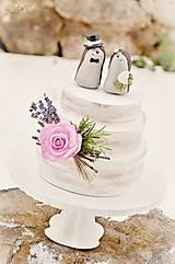 Dekorácie - Svadobní ježkovia menší - figúrky na tortu - 9043634_